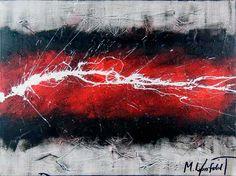 Deep River I 80x60 cm - Art by Lønfeldt - original abstract painting, modern textured art, colorful