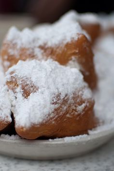 French Quarter Beignets Recipe - Deep fried yeast dough coated with powdered sugar