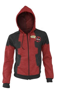 Deadpool Hoodie... knew I shoulda held out... got the lame one with massive misgivings @ absorbent pricing...
