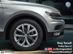 Experience The New Tiguan as it unveils! Watch the live launching event of VW Tiguan today 7PM on our Facebook page. Stay tuned! #TiguanatAhmedabad