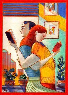 Pocas cosas unen más que compartir la #lectura de un buen libro. (Ilustración de…