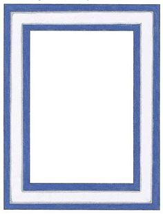Transparent Frames and Borders | Blue, White Border Frame