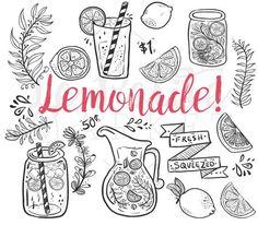 Doodle Hand Drawn Lemonade Summer Clip Art, Mason Jar Clipart, Lemonade themed I. - Bullet journal İdeas in 2019 Doodle Drawings, Doodle Art, Doodle Frames, Summer Clipart, Doodles, Planner, Bullet Journal Inspiration, Digital Stamps, My Images