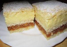 Ez az a recept, amit egyszer mindenképpen ki kell próbálni. Apple Cream Recipe, Cream Recipes, Hungarian Desserts, Hungarian Recipes, Hungarian Food, No Bake Desserts, Just Desserts, Dessert Recipes, Cooking Cookies
