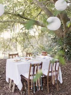 When we renew our vows someday I want something like this as the setting!! once again with the trees!!