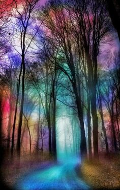 An unknown and colorful road...beautiful !!