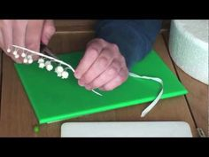 How to make gumpaste flowerpaste Lily of the Valley