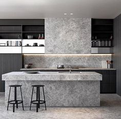 apartments are a retreat, a cool sanctuary from the often harsh conditions of the Queensland climate. The cool and calm of… apartments are a retreat, a cool sanctuary from the often harsh conditions of the Queensland climate. The cool and calm of… Modern Kitchen Design, Interior Design Kitchen, Kitchen Designs, Diy Kitchen, Kitchen Decor, Kitchen Ideas, Kitchen Layout, 2019 Kitchen Trends, Cuisines Design
