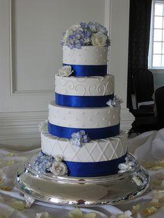 Royal Blue Ribbon Wedding by hainesbarksdale, via Flickr