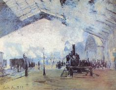 Claude Monet, Saint Lazare Train Station in Paris, 1877