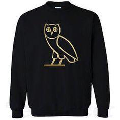 Drake Owl OVOXO Sweatshirt CrewNeck in Black or Red by IbraMark