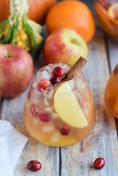 Pumpkin Apple Sangria in glass