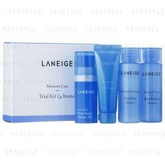 Buy Laneige Moisture Care Trial Kit: Skin Refiner 25ml + Emulsion 25ml + Essence EX 10ml + Gel Cream 10ml | YesStyle