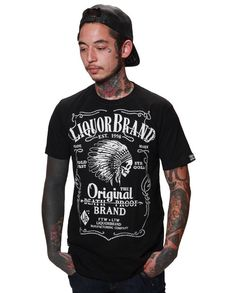 Liquor Brand Herren FIREWATER T-Shirts.Tattoo,Biker,Oldschool,Custom Style