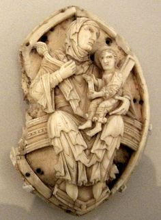Madonna and child, 11th century Anglo-Saxon carving