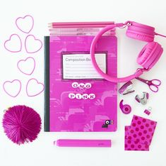 OMG PINK. Check out our pretty in pink products that can be great gifts for girls. Heart bracelets, pink headphones, colored pencils, mini office kit that includes tape, scissors, staplers and more; poke-dot magnets, jumbo pencil erasers, pink pom pom keychains, pink camp composition book, and our new twisted crayons.