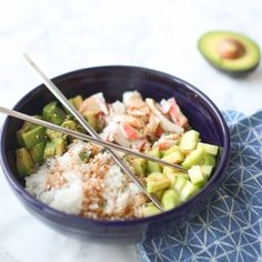California Roll Bowl. Bowls are the new plates. It's true. Martha Stewart said it, so it's true. Fiesta® Dinnerware Bistro Bowl | Oh So Delicioso