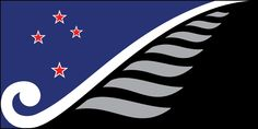 Honouring our heritage, inspiring our future by Dave Sauvage, tagged with: black, blue, red, white, fern, koru, Southern Cross, growth, peace.