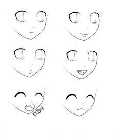 Des visages de mangas