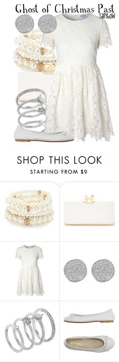 """""""Ghost of Christmas Past"""" by tallybow ❤ liked on Polyvore featuring Forever 21, Ted Baker, Glamorous, Karen Kane, Vince Camuto and DIENNEG"""
