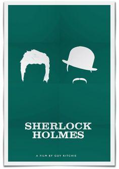 Sherlock Holmes - minimal movie poster - Ramin Nasibov