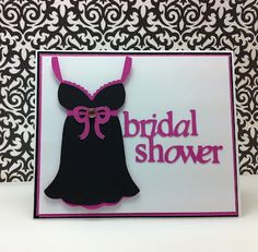 Bridal Shower Card with Bridal Shower Cricut Cartridge