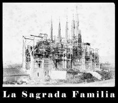 La Sagrada Familia is under the construction site, as always - 1896