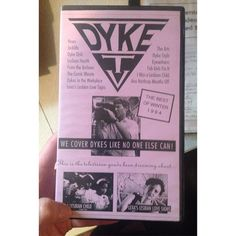 """DYKE TV.VHS Tape. 1994. """"We Cover Dykes Like No One Else Can"""" News - Jocklife - Dyke Dish - Lesbian Health - From the Archives - The Comic Minute - Dykes in the Workplace - Lexa's Lesbian Love Signs - The Arts - Dyke Style - Eyewitness - Fab Girls Fix It - I Was A Lesbian Child - Ann Northrop Mouths Off #herstory #dyketv #lesbians #vhs #iwasalesbianchild #1994 #gaytv"""