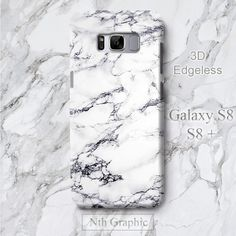 Samsung S8 Plus White Marble Case, S8+ Elegant Print Marble Stone... ($19) ❤ liked on Polyvore featuring accessories, tech accessories and samsung