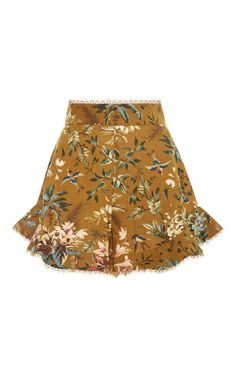 Tropical Floral Flutter Shorts by ZIMMERMANN Now Available on Moda Operandi