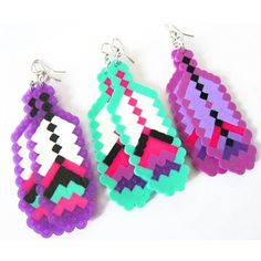 New Feather Fantasies available exclusively on Beyond Buckskin Boutique! Melty Bead Patterns, Kandi Patterns, Perler Patterns, Beading Patterns, Fuse Beads, Hama Beads, Peler Beads, Iron Beads, Melting Beads