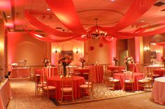 Reception at The Westin Savannah Harbor with beautiful work by Harvey Designs!