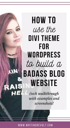 This post will walk you through exactly how to create a blog website using the Divi Wordpress theme from Elegant themes. If you're a blogger, creative entrepreneur, solopreneur, or infopreneur, this theme is perfect for you! Check it out. :)