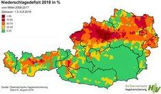 Landwirtschaft und Klimawandel. In manchen Regionen Österreichs fiel von März bis August über 85 % weniger Regen als im 10-jährigen Durchschnitt. Map, Agriculture, Interesting Facts, Location Map, Maps