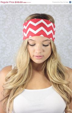 On Sale 15 Off Red Chevron Turban  Red Chevron by moviestarjewelry, $15.30