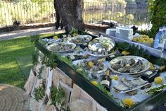 Los caprichos de Leal Maese | Finca Prados Moros – Tu blog. Una buena barra de ostras y champan.