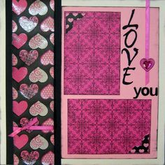 8 Best VALENTINE'S DAY- Bab'ys 1st pre made scrapbook pages