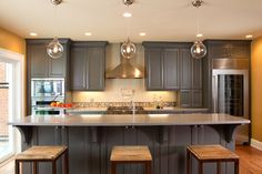 Gray Kitchen Cabinets Design, Pictures, Remodel, Decor and Ideas - page 22