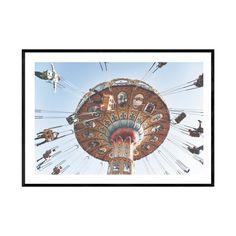 Santa Cruz Boardwalk, Beach Boardwalk, Coastal Wall Art, Coastal Decor, Glass Printing, Amusement Park Rides, Beach Print, Vintage Walls, Prints For Sale