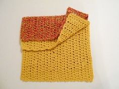 2 Large Crochet Cotton Dish Cloths;Handcrafted