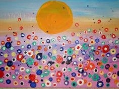 Poppies in a Field Abstract Painting SFA by TipsyGypsyArtCo, $25.00