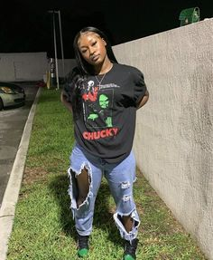 Dope Swag Outfits, Tomboy Outfits, Teen Fashion Outfits, Urban Outfits, Retro Outfits, Outfits For Teens, Stylish Outfits, Girl Outfits, 90s Inspired Outfits