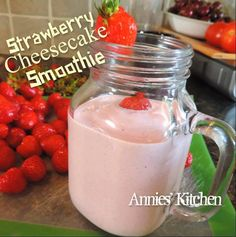 STRAWBERRY CHEESECAKE SMOOTHIE recipe, like a Dairy Queen Strawberry Cheesequake Blizzard
