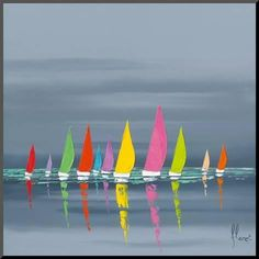 Fréderic Flanet Art as Art Prints, plexiglass pictures, Art Cards, Bookmarks, stretcher on canvas und framed pictures Sailboat Painting, Art Carte, Fine Art, Acrylic Art, Art Reproductions, Framed Artwork, Wall Art, Abstract Art, Art Prints