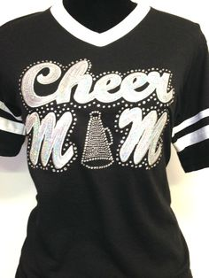 Silver Sequin/Bling Cheer Mom Jersey Shirt by CheeksLittleBoutique, $20.00