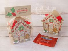 Learn how to make a Ghirardelli Holder using the Yummy Christmas Stamp Set and the Cuckoo Clock Dies from Stampin' Up! Christmas Bazaar Crafts, Stampin Up Christmas, Christmas Candy, All Things Christmas, Christmas Diy, Holiday, 3d Paper Projects, Paper Crafts, Stampin Up Weihnachten