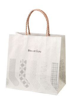 Bleu et Écru / socks shop / paper bag / FROM GRAPHIC