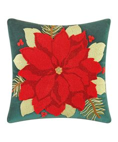 Look what I found on #zulily! Poinsettia Throw Pillow #zulilyfinds