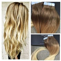 Full Shine ᗜ Ljഃ Ombre Tape on Hair Extensions Balayage Tape Hair Extensions ୧ʕ ʔ୨ 8/613 Multi-color Tape in Human Hair Extensions OmbreFull Shine Ombre Tape on Hair Extensions Balayage Tape Hair Extensions 8/613 Multi-color Tape in Human Hair Extensions Ombre