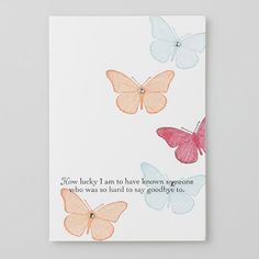 Butterfly card. Saying goodbye
